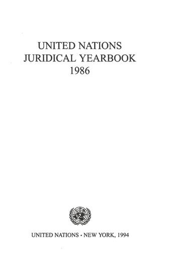 image of United Nations Juridical Yearbook 1986