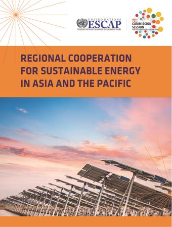 image of Regional Cooperation for Sustainable Energy in Asia and the Pacific