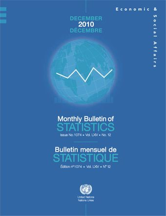 image of Monthly Bulletin of Statistics, December 2010