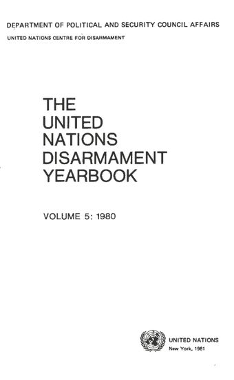 image of Declaration of the 1980s as the second disarmament decade