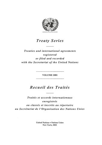 image of Treaty Series 2081