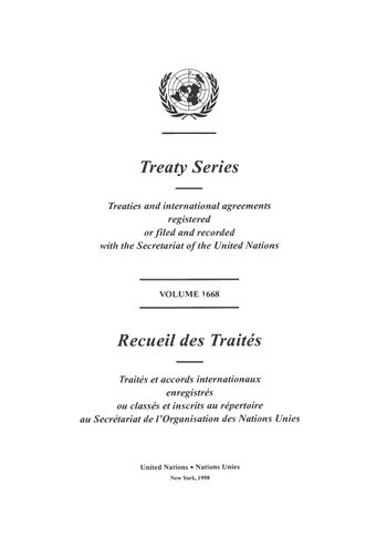image of Treaty Series 1668
