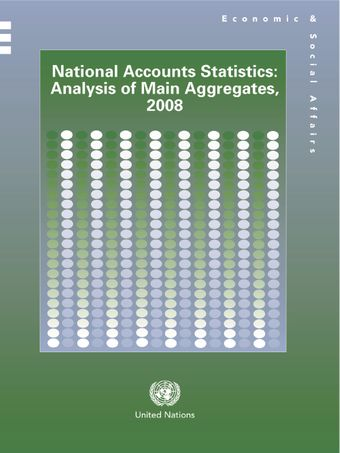 image of National Accounts Statistics: Analysis of Main Aggregates, 2008