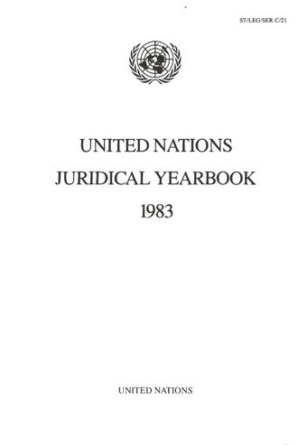 image of United Nations Juridical Yearbook 1983