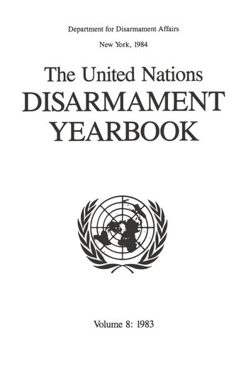 image of World disarmament conference