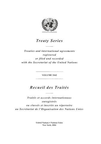 image of Treaty Series 2162