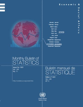 image of Monthly Bulletin of Statistics, November 2009