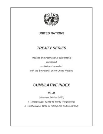 image of Treaty Series Cumulative Index No. 45