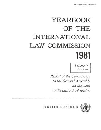 image of Yearbook of the International Law Commission 1981, Vol. II, Part 2