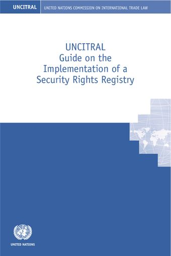 image of UNCITRAL guide on the implementation of a security rights registry