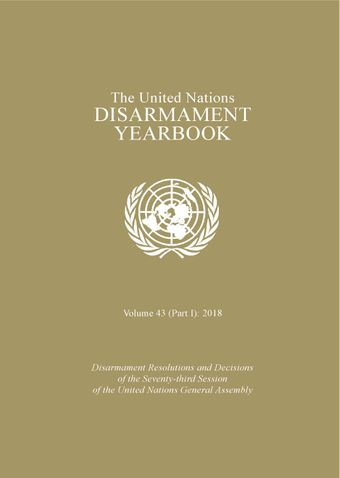 image of United Nations Disarmament Yearbook 2018: Part I