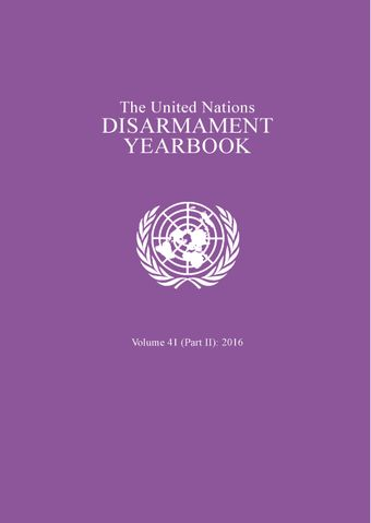 image of United Nations Disarmament Yearbook 2016: Part II