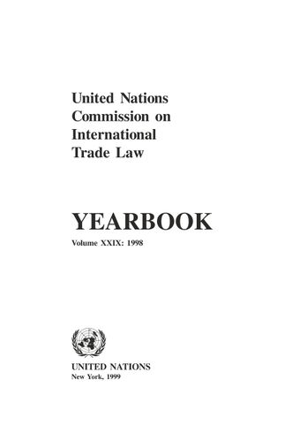 image of United Nations Commission on International Trade Law (UNCITRAL) Yearbook 1998