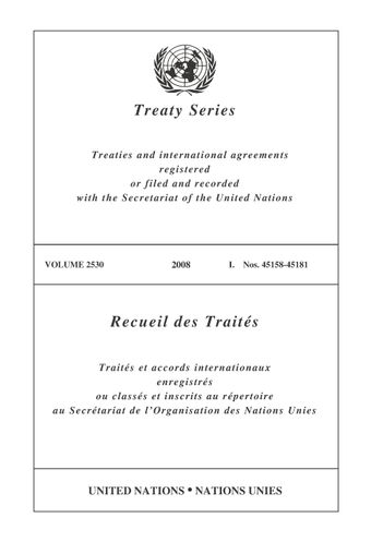 image of Treaty Series 2530