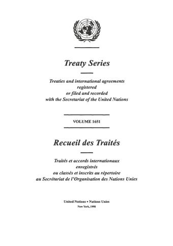 image of Treaty Series 1651