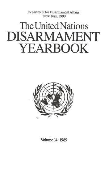 image of United Nations Disarmament Yearbook 1989