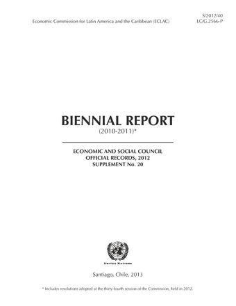 image of Biennial report (2010-2011) of the economic commission for Latin America and the Caribbean