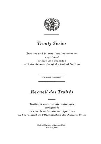 image of Treaty Series 1610/1611