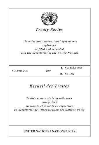 image of Treaty Series 2426