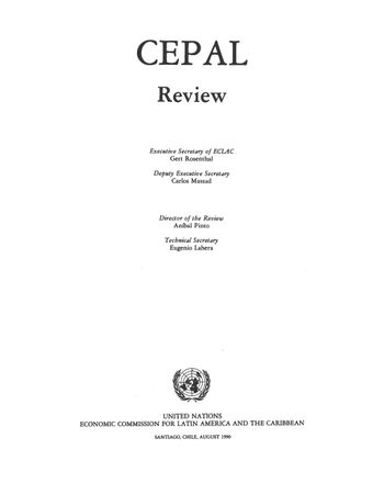 CEPAL Review No. 41, August 1990