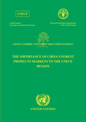 image of The Importance of China's Forest Products Markets to the UNECE Region
