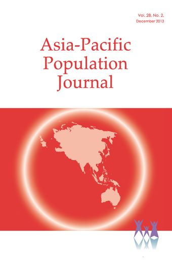 Asia-Pacific Population Journal, Vol. 28, No. 2, December 2013