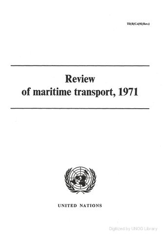 image of Review of Maritime Transport 1971