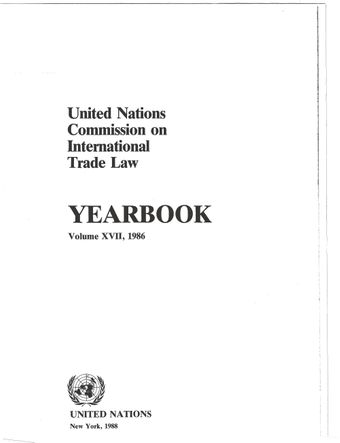 image of United Nations Commission on International Trade Law (UNCITRAL) Yearbook 1986