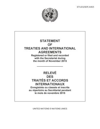 image of Rectificatifs concernant des Relevés des traités ou accords internationaux enregistrés ou classés et inscrits au répertoire au Secrétariat