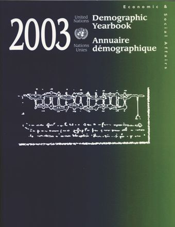 image of Topics of the Demographic Yearbook series: 1948 - 2003