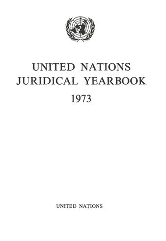 image of United Nations Juridical Yearbook 1973