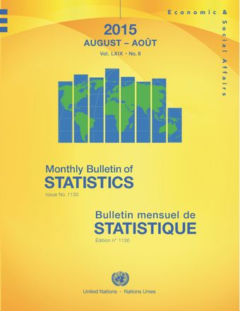 image of Monthly Bulletin of Statistics, August 2015