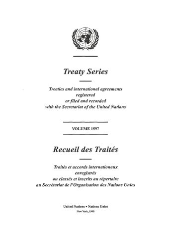 image of Treaty Series 1597