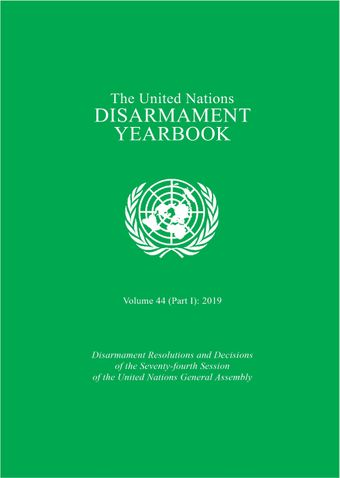 image of United Nations Disarmament Yearbook 2019: Part I