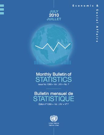 image of Monthly Bulletin of Statistics, July 2010