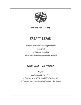 image of Treaty Series Cumulative Index No. 50