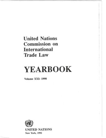 image of United Nations Commission on International Trade Law (UNCITRAL) Yearbook 1990