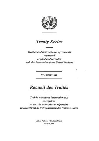 image of Treaty Series 1849