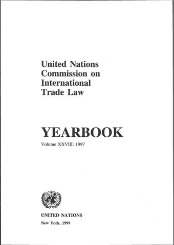 image of United Nations Commission on International Trade Law (UNCITRAL) Yearbook 1997