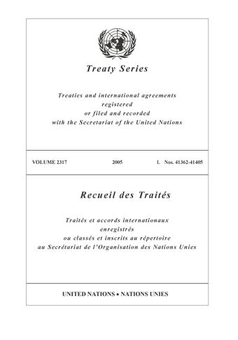 image of Treaty Series 2317