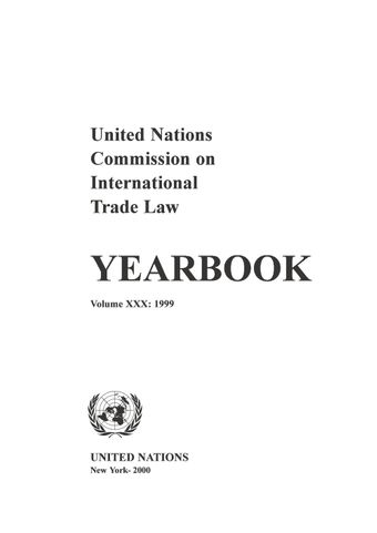 image of United Nations Commission on International Trade Law (UNCITRAL) Yearbook 1999