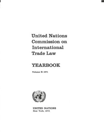 image of United Nations Commission on International Trade Law (UNCITRAL) Yearbook 1971