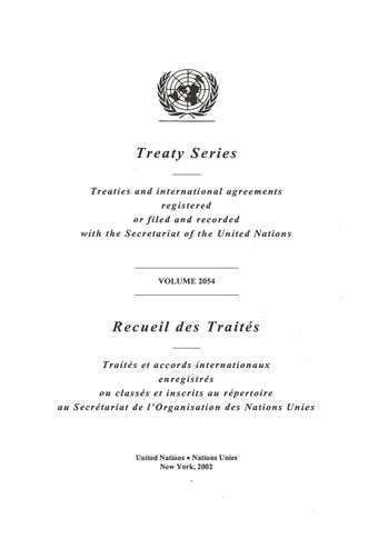 image of Treaty Series 2054