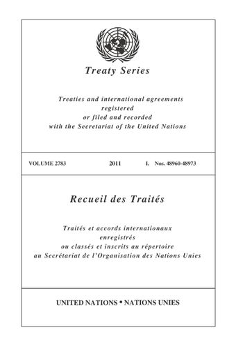 image of Treaty Series 2783