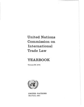 image of United Nations Commission on International Trade Law (UNCITRAL) Yearbook 1978