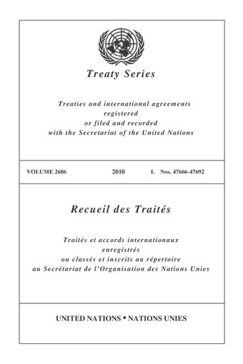 image of Treaty Series 2686
