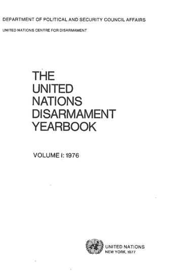 image of Understandings of the conference of the committee on disarmament relating to the draft convention on the prohibition of military or any other hostile use of environmental modification techniques