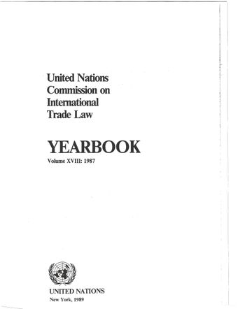 image of United Nations Commission on International Trade Law (UNCITRAL) Yearbook 1987