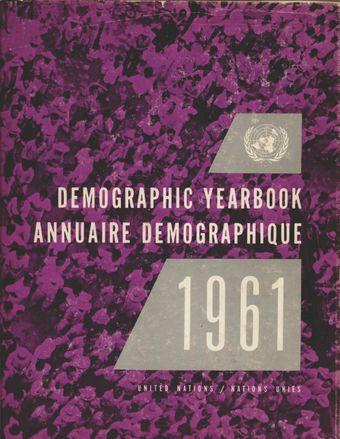 image of United Nations Demographic Yearbook 1961