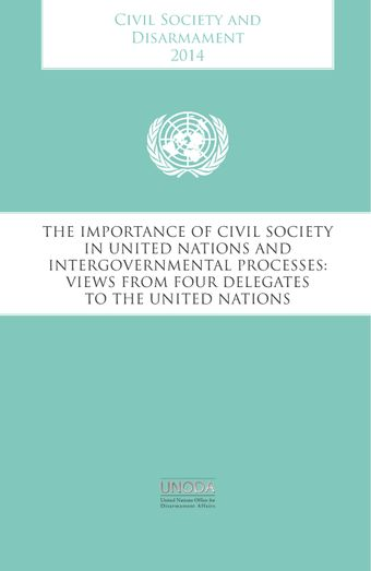 image of The impact of civil society on global efforts to advance the arms trade treaty: The perspective of a Costa Rican diplomat
